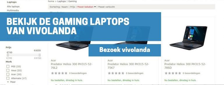Bekijk de gaming laptops van vivolanda